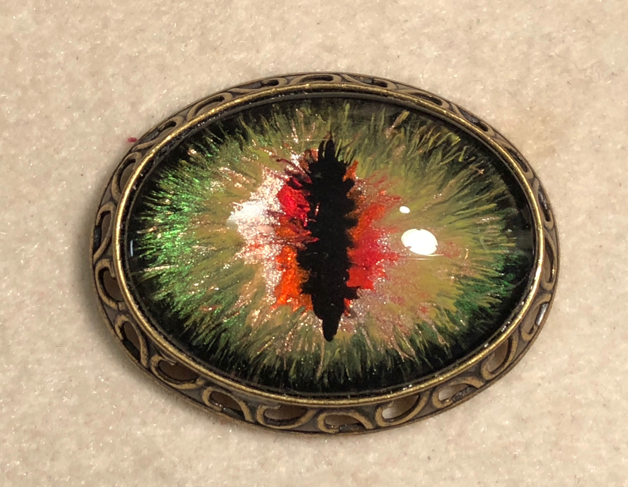 "Hand Painted ""Dragon Eye"""
