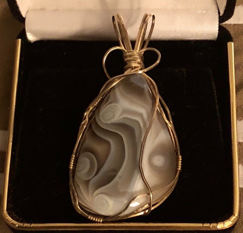Wire Wrapped Botswana Agate