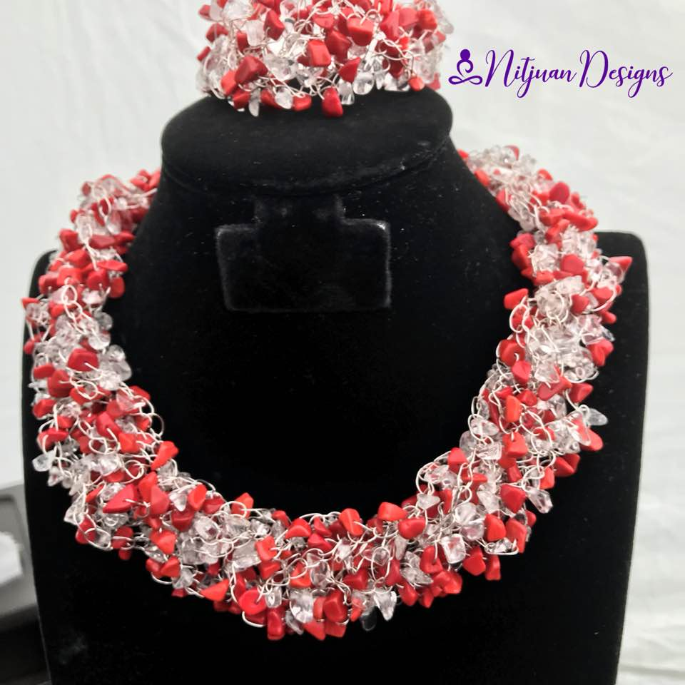 Clear Quarts and Red Coral.jpg