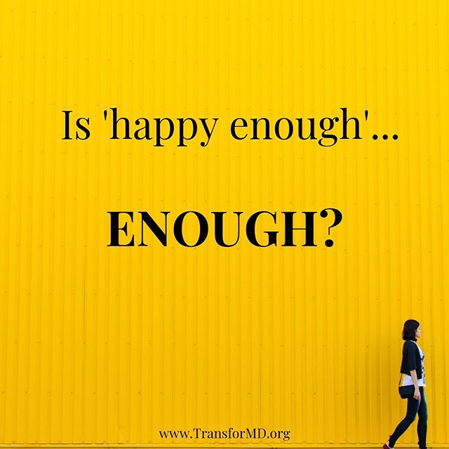 Hi there- @jillwenermd here (TransforMD co-founder)! I was 'happy enough' before my burnout, and I got back to 'happy enough' after I started meditating and recovered from my burnout. But something inside me knew I'd wake up at 65, still 'happy enough', but wishing I'd done something different. Something more. So I chose to be relentless at following my heart and my intuition and creating the life *I* wanted, rather than the one that was  laid out for me by the medical profession. . At the TransforMD Mastery Retreat for Women Physicians, we help women who are 'happy enough' to find more meaning and fulfillment. How? By diving deep into each woman's truest values and giving them practical tools to make the changes they need to be... happy. Full stop. Whether that's staying in medicine, changing between academics and private practice, starting a side gig, or leaving medicine altogether. 'Happy enough' is just not enough for us. Come join us in Mexico January 8-12. Registration is open for just a few more days, and spots are filling up, so don't miss your chance to be TransforMD. CME is included this year!! www.transformd.org/register (link in bio) #transformd2020 . . . . . . #womeninmedicine #shemd #somedocs #womeninwhitecoats #cme #cmeconference #retreatyourself #academicmedicine #hospitalmedicine #womeninhospitalmedicine