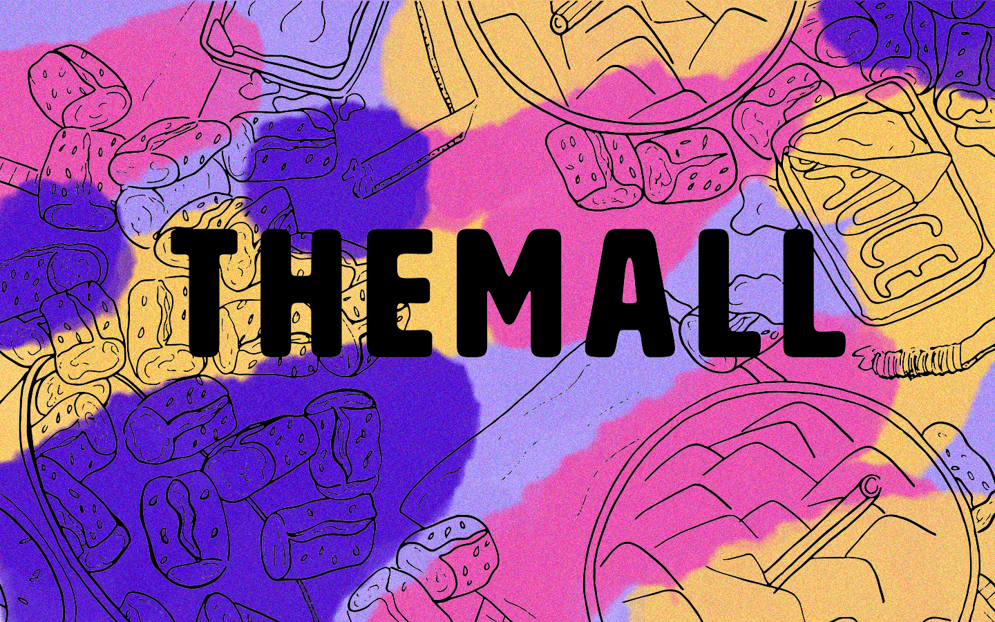 "This logo was created for the CIC Improv Theatre house team ""THEMALL"". Illustrated by hand, and painted digitally in Photoshop."