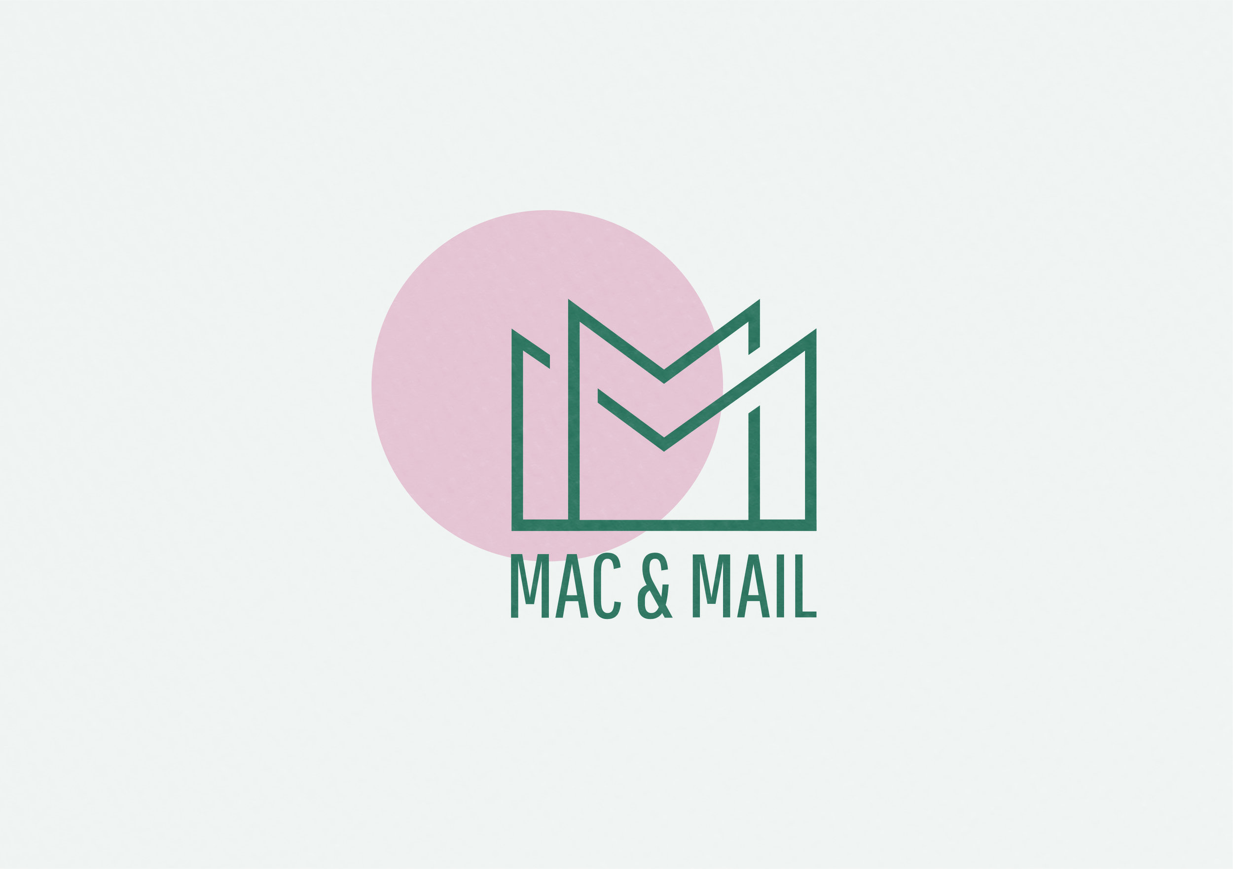 Mac&Mail concept and logo design for monthly email newsletter