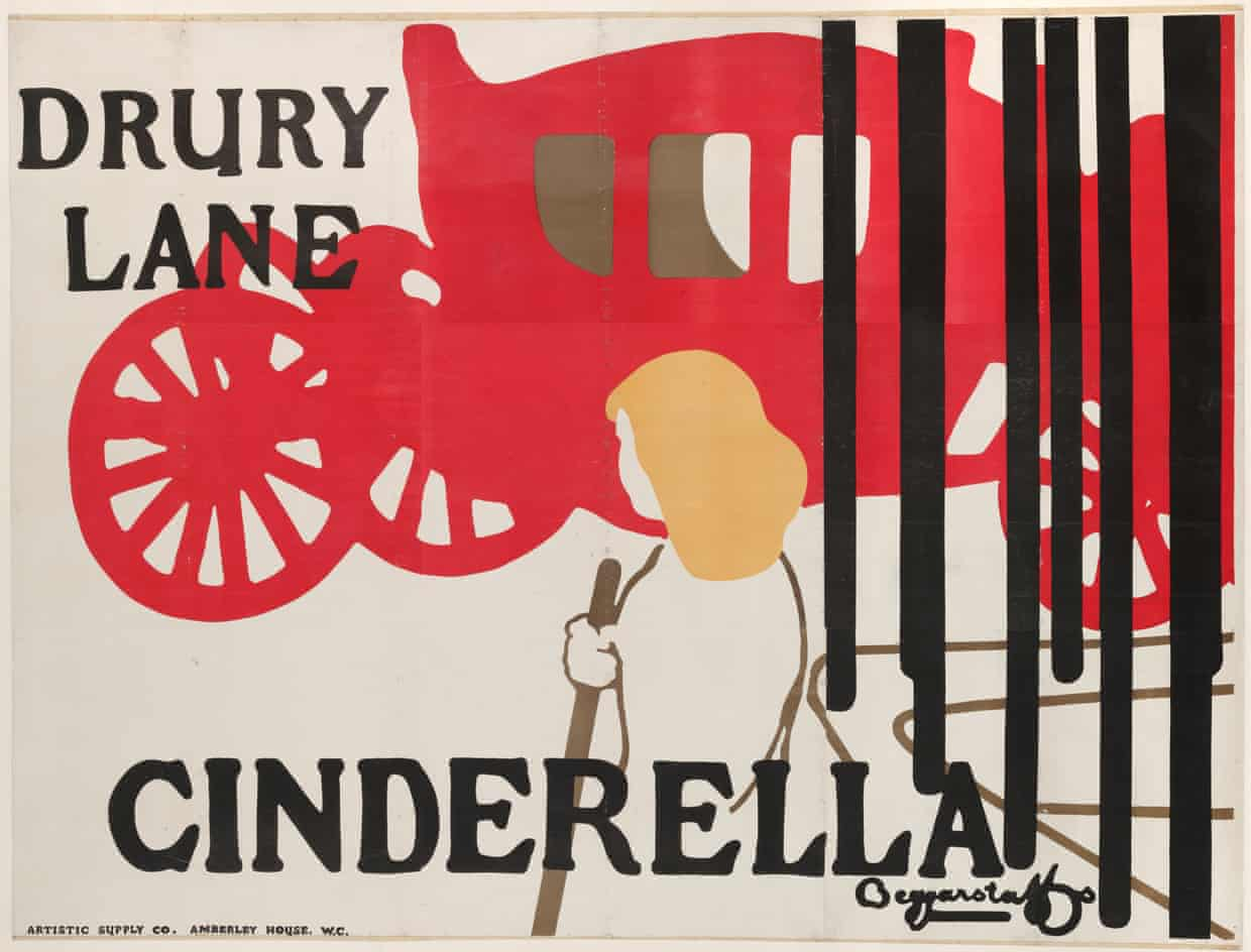 A Beggarstaffs poster advertising Cinderella at Drury Lane, 1895. Photograph: Robert Auton/Victoria and Albert Museum, L