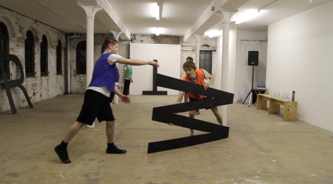 Video still 2-Performance of Allied & Amalgamated - The Pipe Factory 2017 - Glasgow - artist Stephanie Black-Daniels and Ed Bruce.jpg