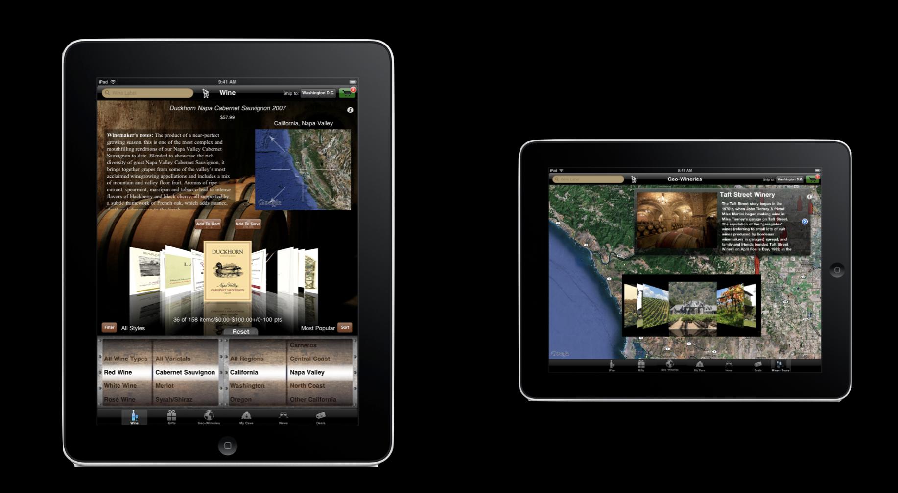 Wine.com iPad App