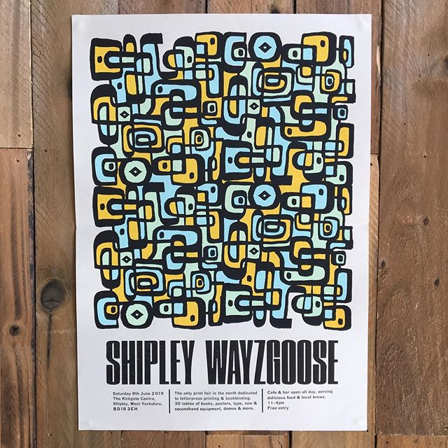 We are off to Shipley on Saturday for the Wayzgoose with lots of fab people... can't wait! We have prints and lots of spare equipment for sale #letterpress #shipleywayzgoose #shipleywayzgoose2019 #bookbinding #printmaking #linocut #printersfair #wayzgoose #letterpressprinting