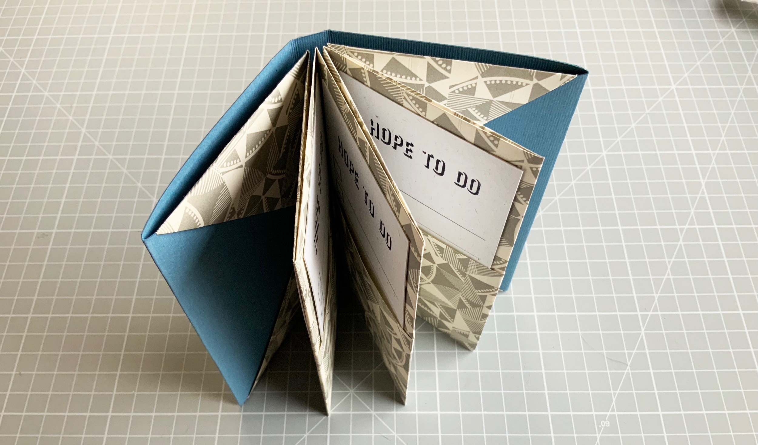 A Hand Folded & Letterpress Printed 'Hope to do' Pocket Book