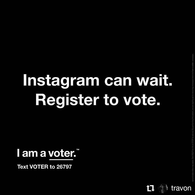*CRUCIALLY IMPORTANT MESSAGE* from former guest & all around amazing human, @travon: • • • • • • Reminder: THIS IS THE MOST IMPORTANT ELECTION OF YOUR LIFE. The 2020 elections will include: 1 president, 1 vice president, 34 seats in the Senate, 435 seats in the House of Representatives, 11 states and 2 territories will elect a governor, and 46 state legislative elections. VOTE! VOTE! VOTE! #nationalvoterregistrationday #vote #registertovote #getoutthevote
