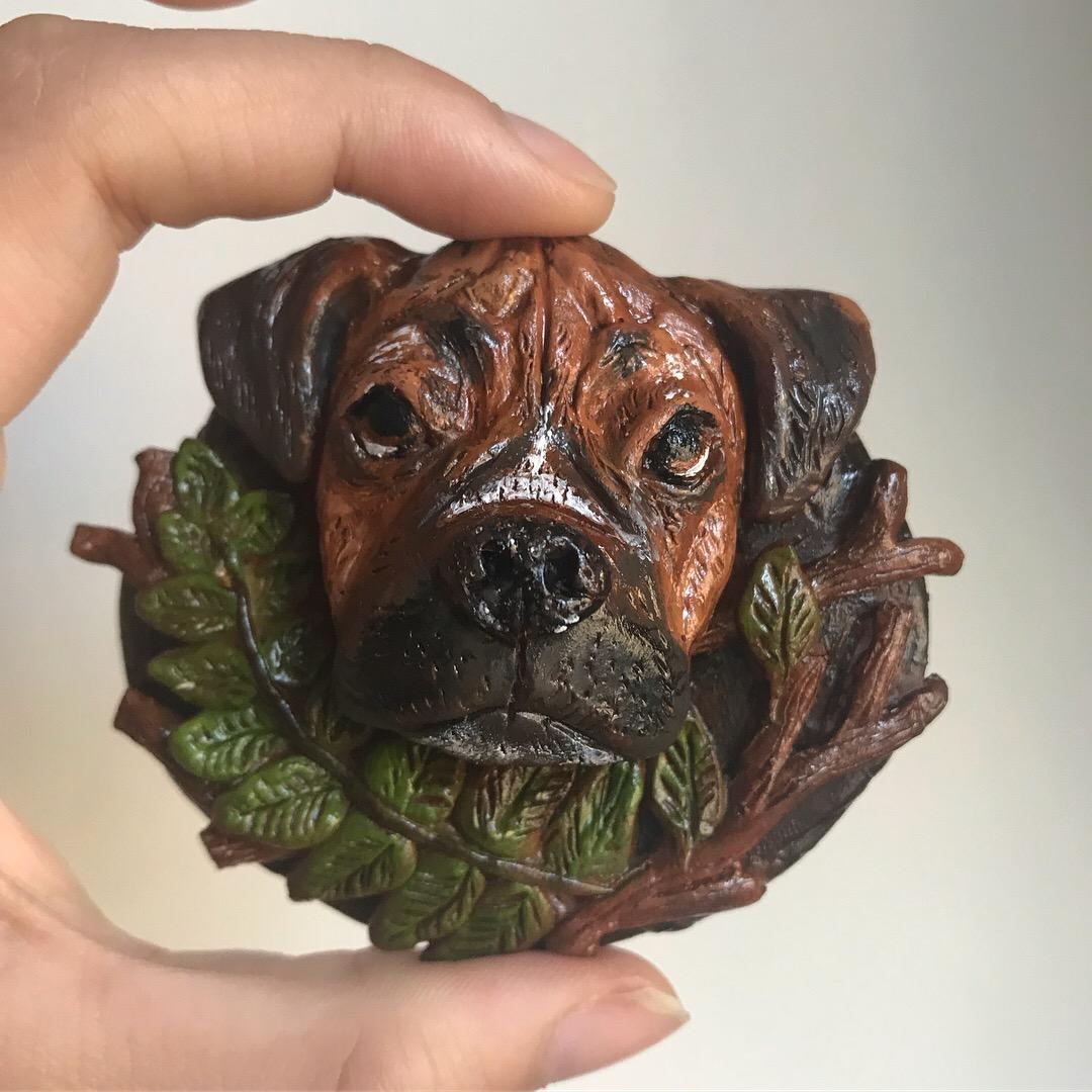 Dog Portrait Magnet- Chunk