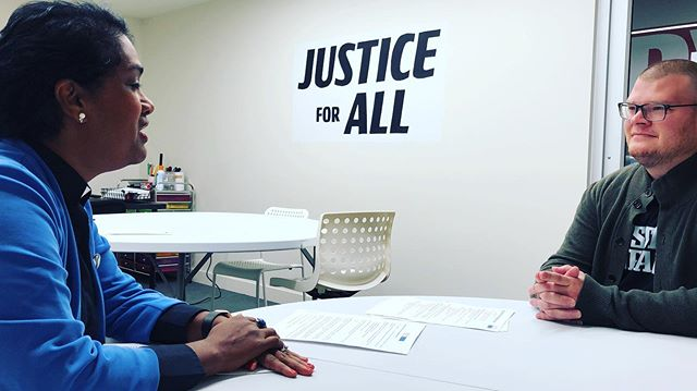 #JusticeForAll is the first message you see when entering @corybooker office and our conversations with staffers to #showUSyourPRpolicy was open and welcoming #2yearsaftermaria