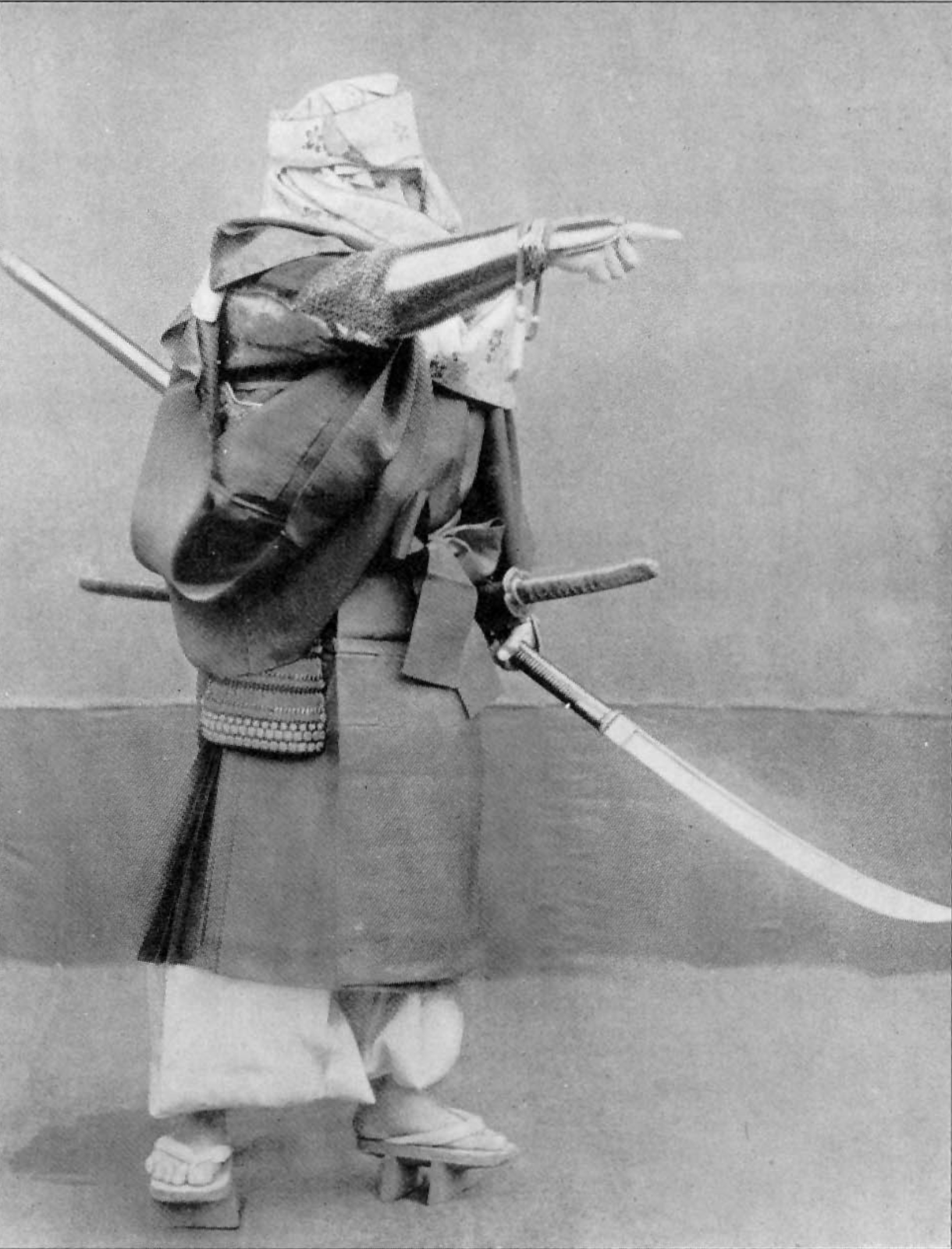 A 19th-century photo of a Japanese warrior monk. Maybe it's a reenactor?