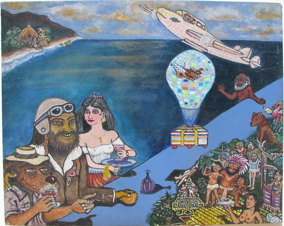 "Hallucination of the Kamikaze Pilot 16 x 20"" 1990"