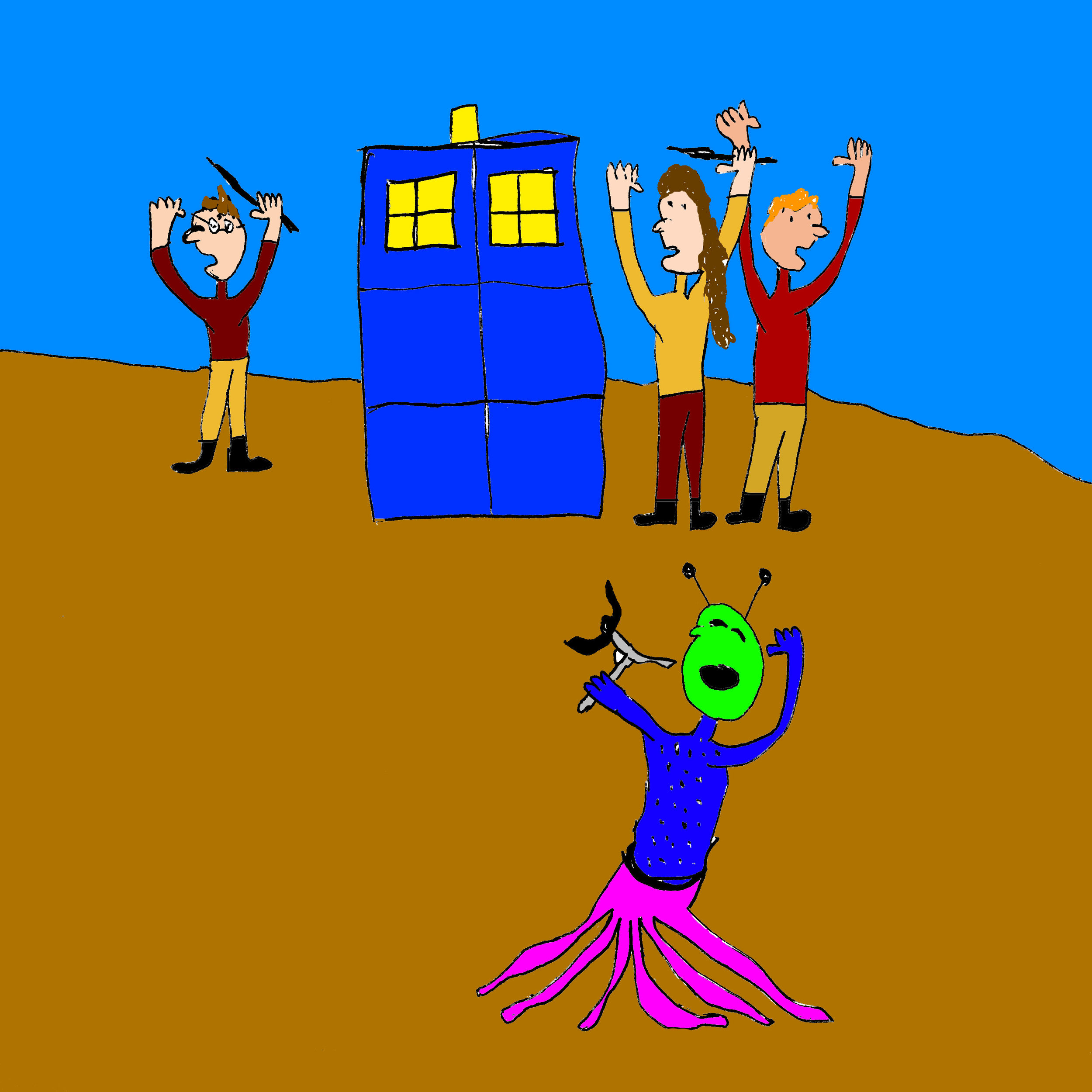 Harry, Ron, and Hermione find a Tardis