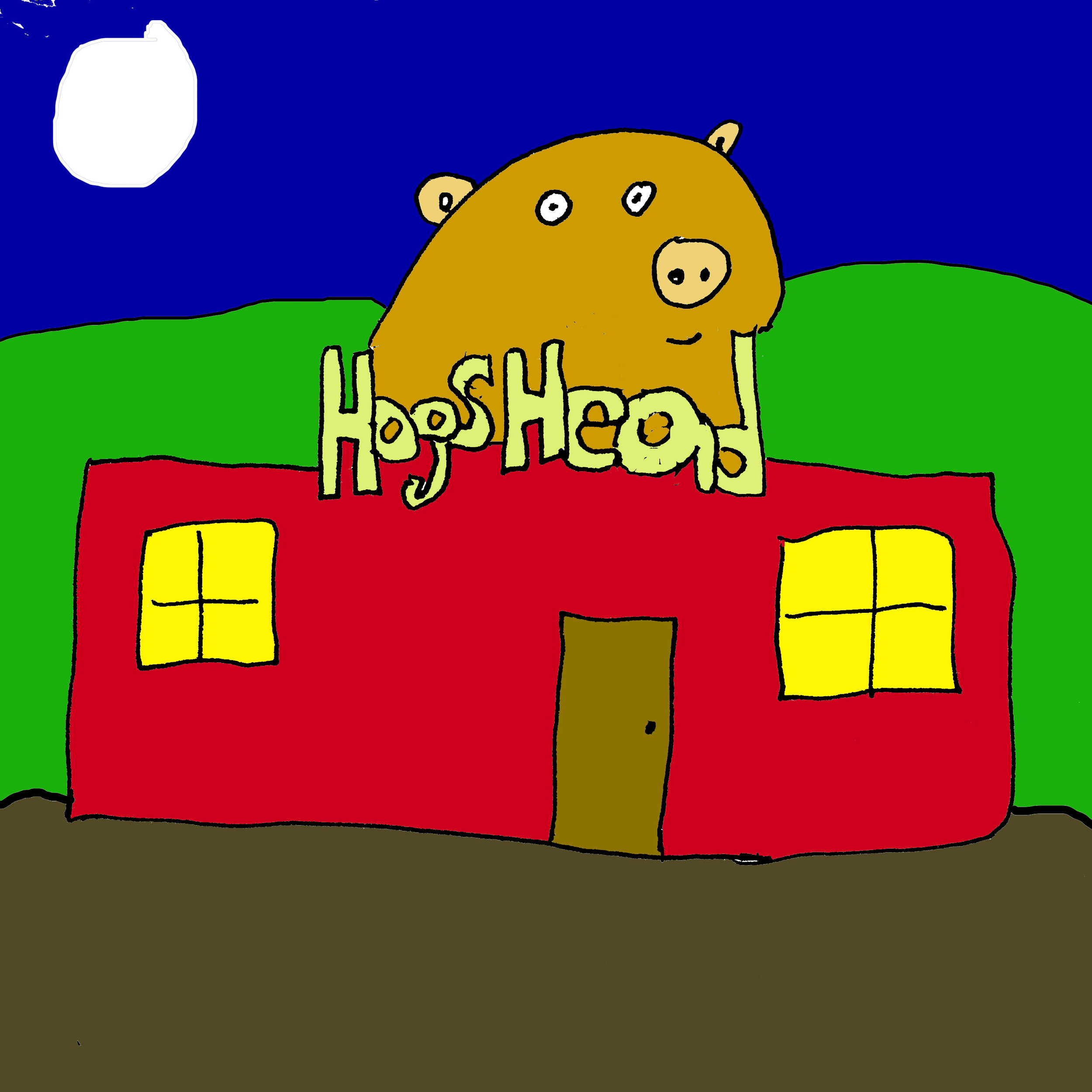 The sign for the Hog's Head Pub