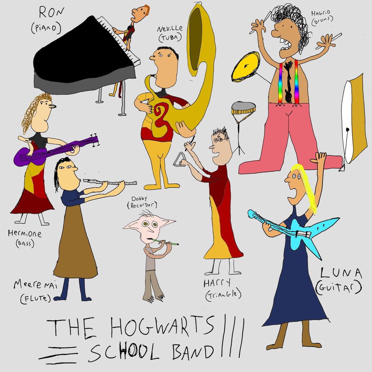 Hogwarts school band rehearsal.