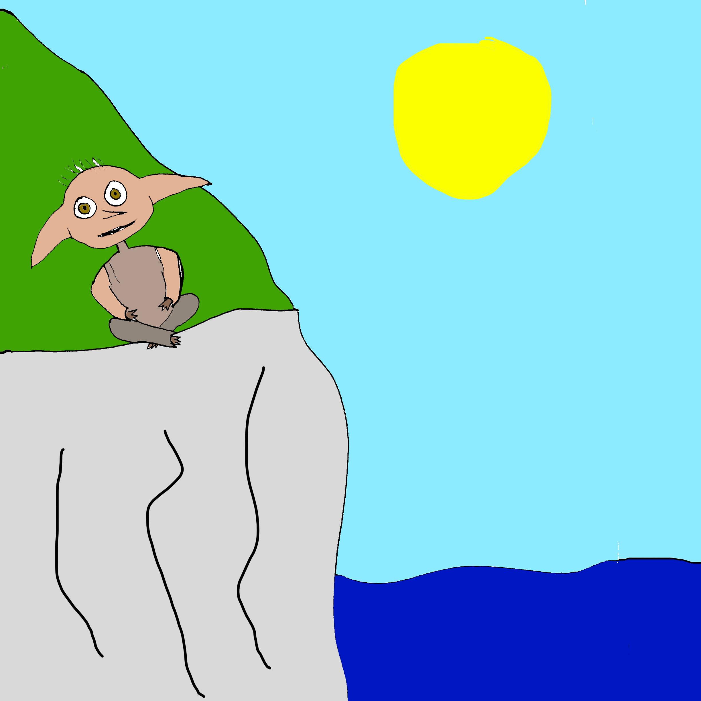 Dobby watching the sea