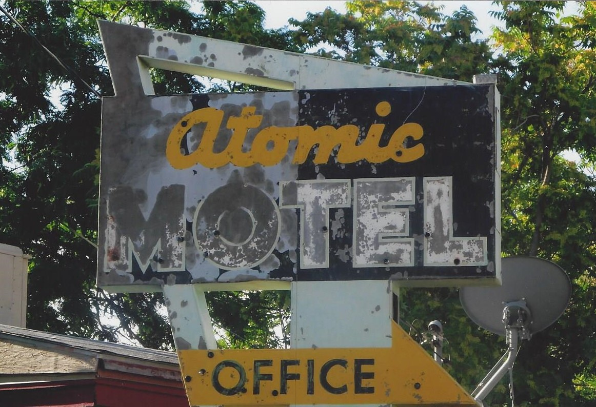 Wonderful old sign in Moab, Utah, 2012; the motel is long-gone.