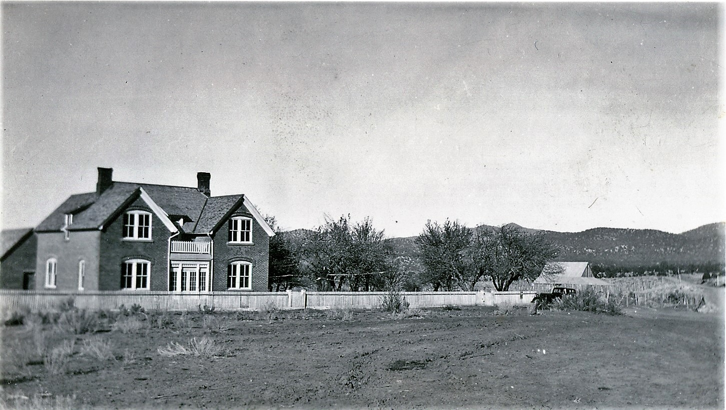 Page Ranch in the early 1930s, near Pinto in southwestern Utah