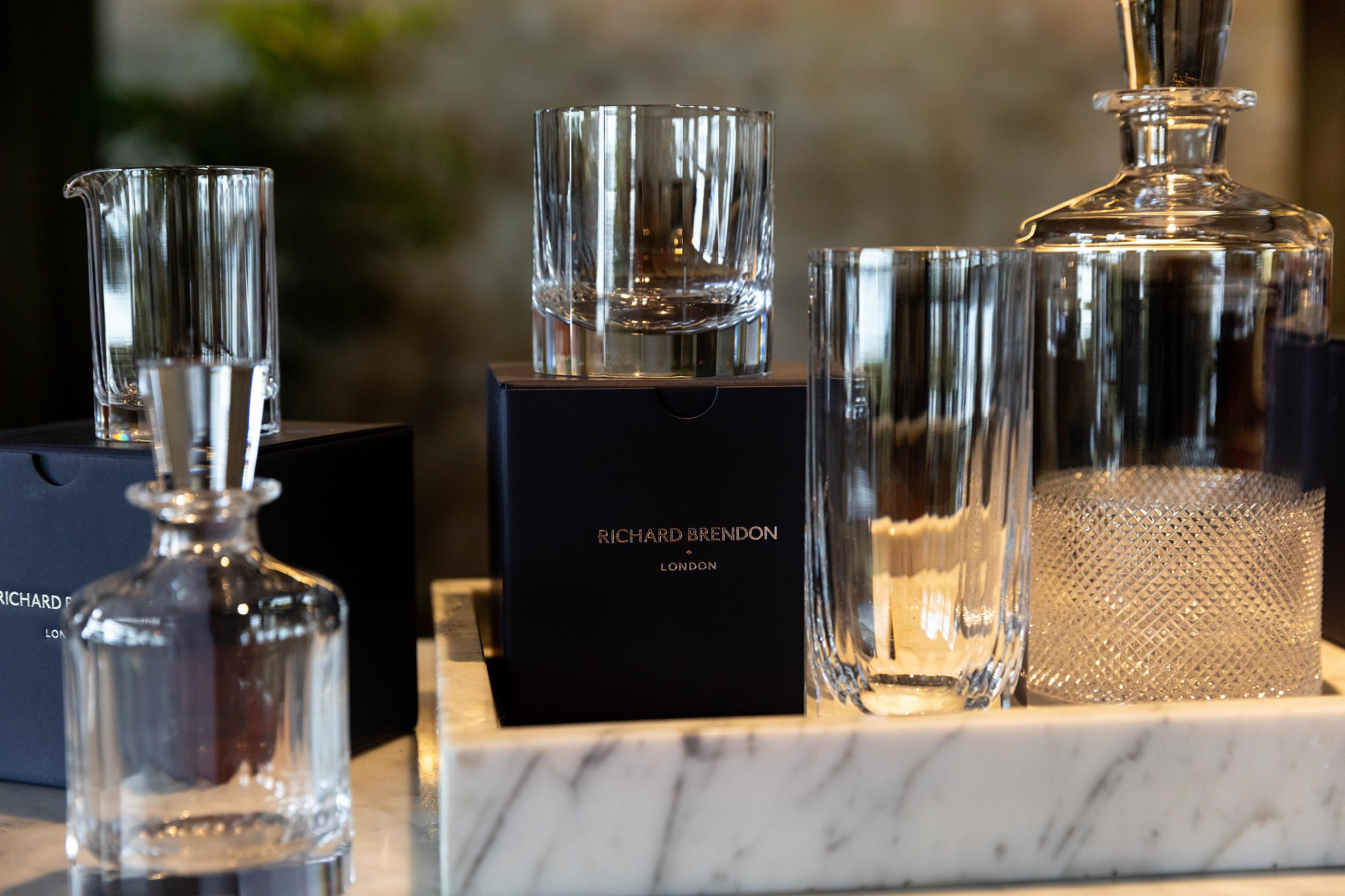 Richard Brendon London - The finest cut crystal bareware.A perfect pairing of craftsmanship and design
