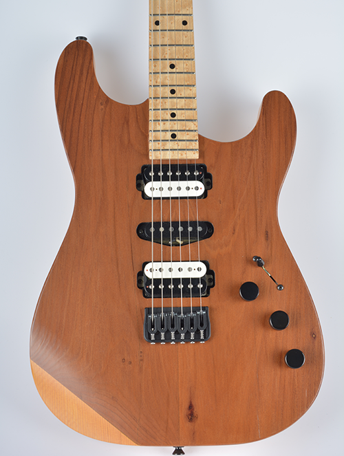 StoryWood 4R-2 doublecut reclaimed redwood guitar