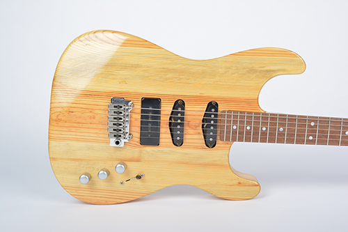 StoryWood 4R-2 doublecut trem P90 reclaimed heart pine guitar