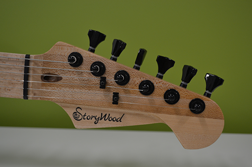 StoryWood 6-inline headstock with Hipshot open gear tuning machines