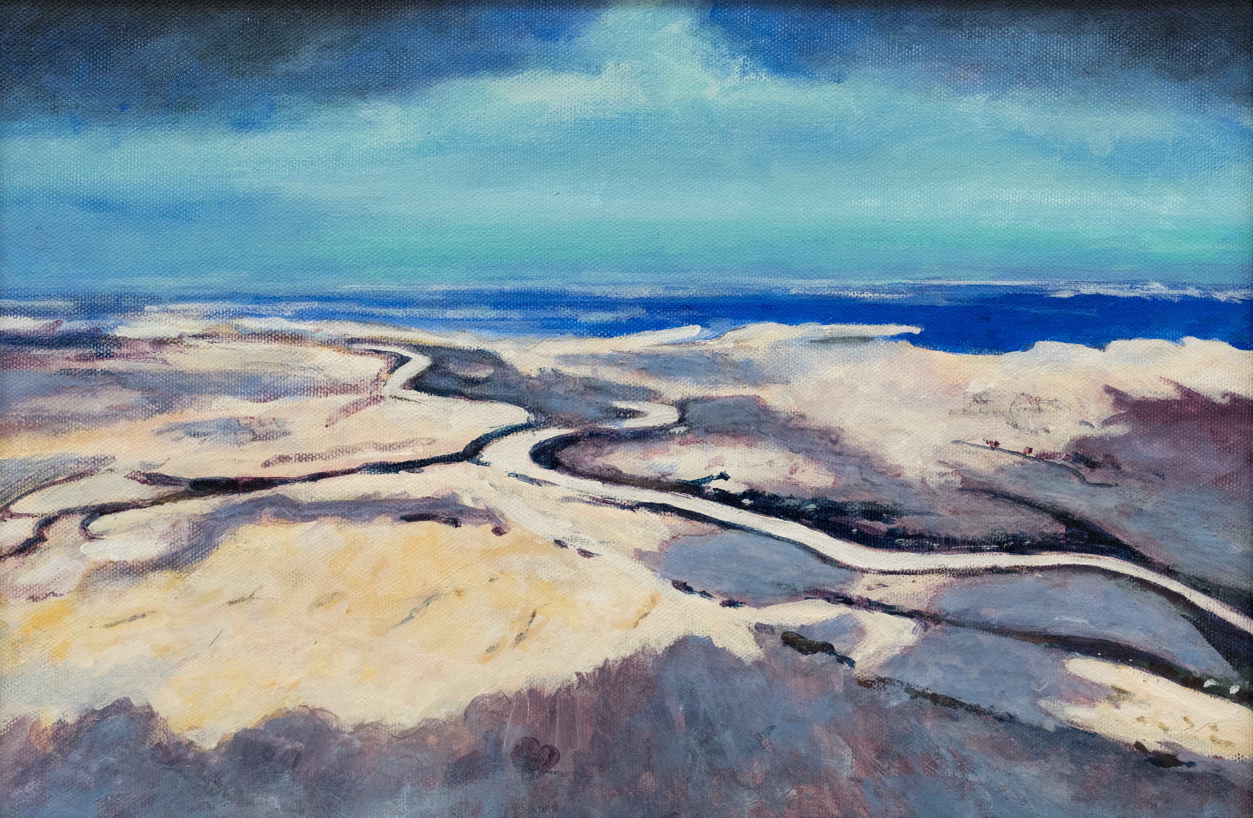 6. Eyre Aerial | Acrylic on board | 24.5 x 37 cm | $750