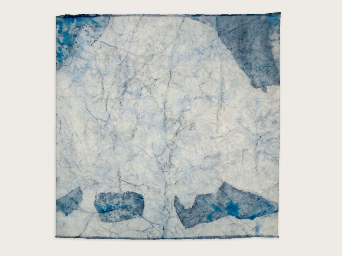 'The Sacred Nature of Trees II'  Indigo on handmade washi paper -  100cm x 100cm