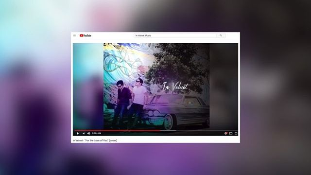 """There is creativity when recording a cover... We released our version of The Isley Brothers' classic """"For the Love of You"""" last summer. Thank you to everyone who has listened to it!  1K plays on YouTube 🙏🏼 . . . . . . . . . . . . . . #cover #invelvet #isleybrothers #fortheloveofyou #vfunk #youtube #cadillac #coverart #slowjams #acoustic #harmony #kcrw #la #duo"""