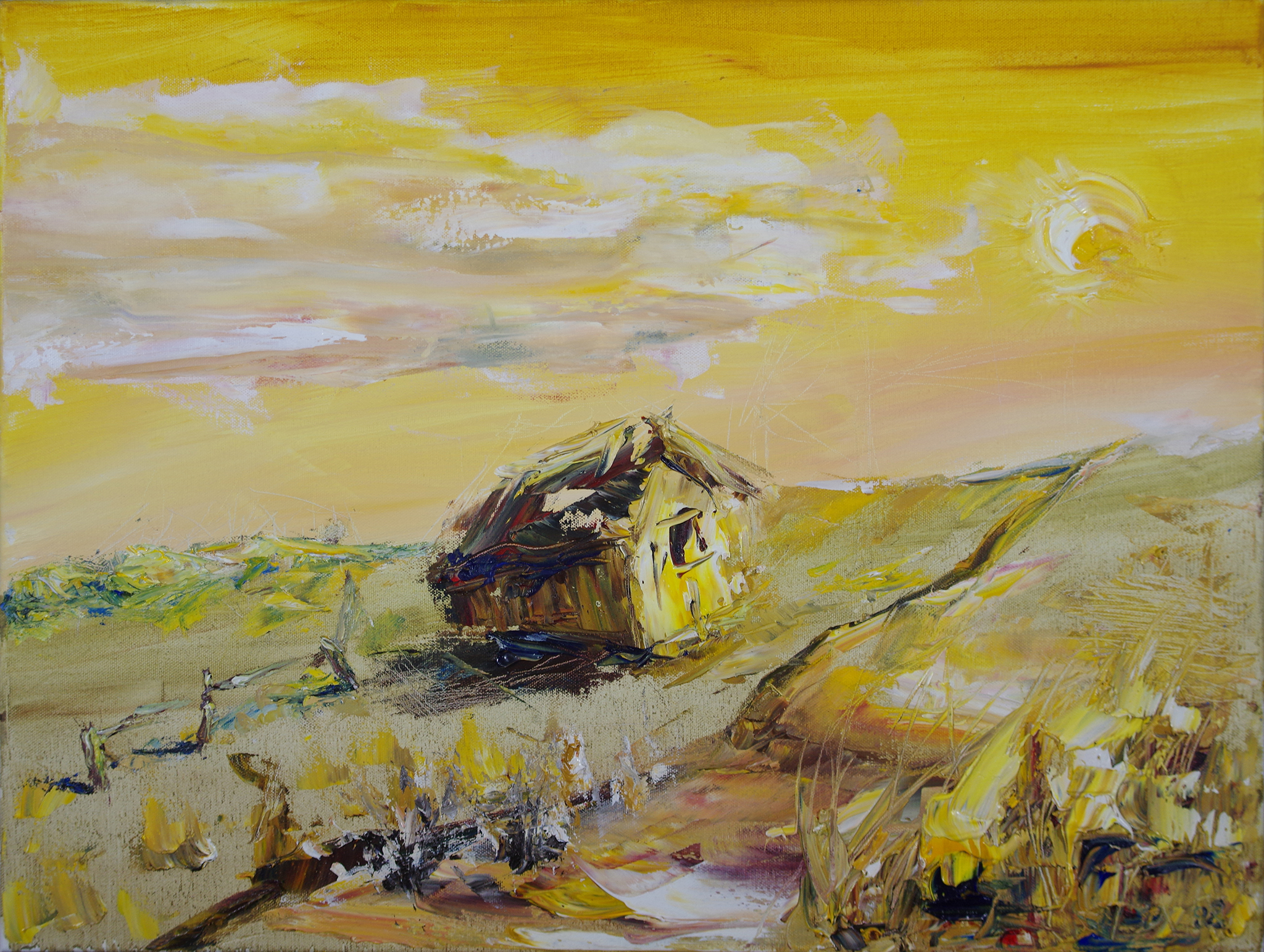 Prarie House - oil on canvas24