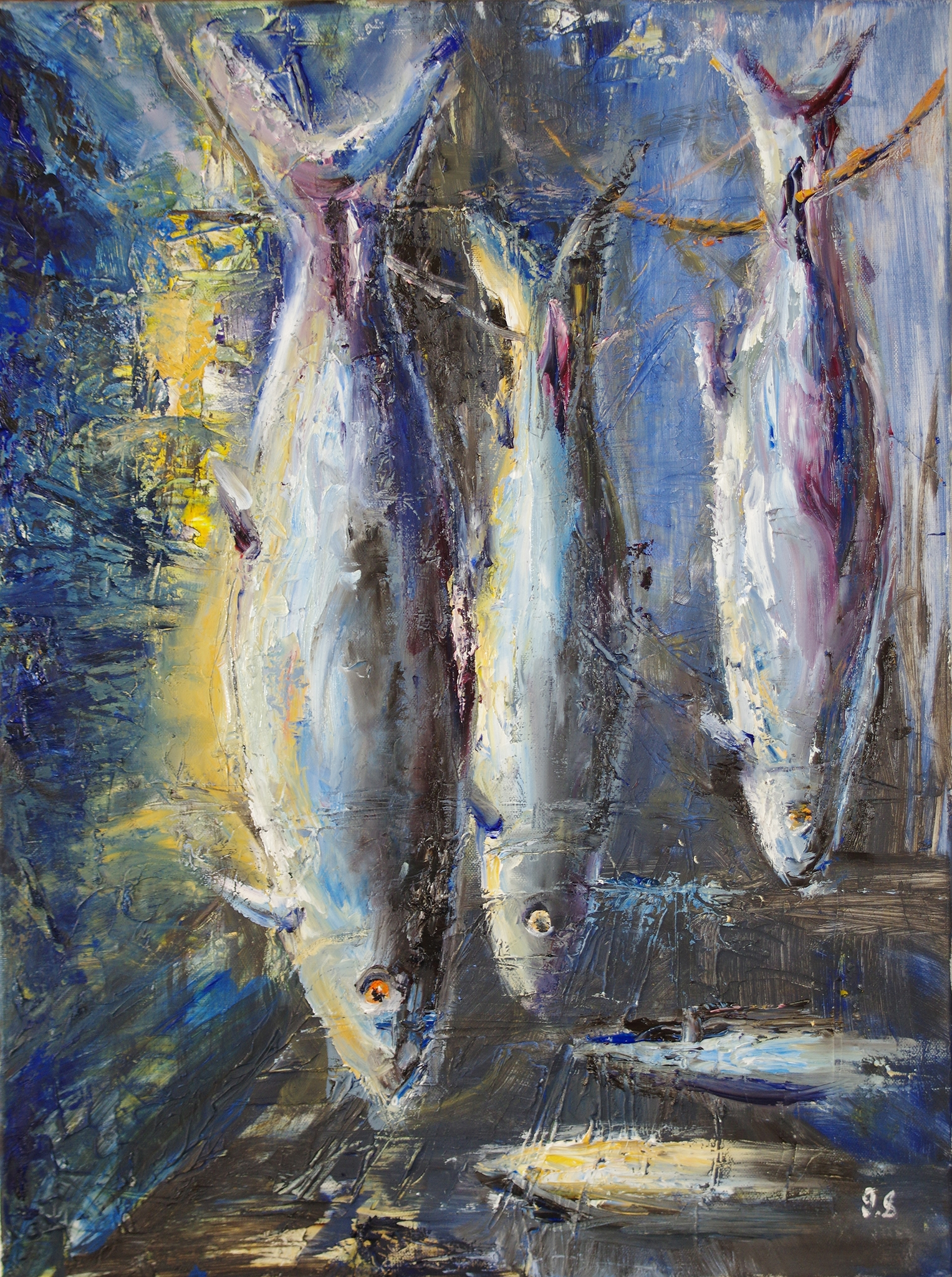 night Fish market - oil on canvas24