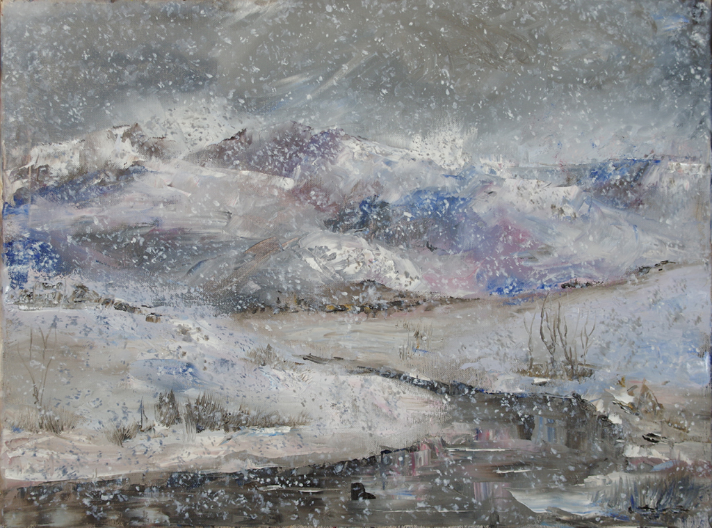 "snowy day - oil on canvas24"" x 18"""