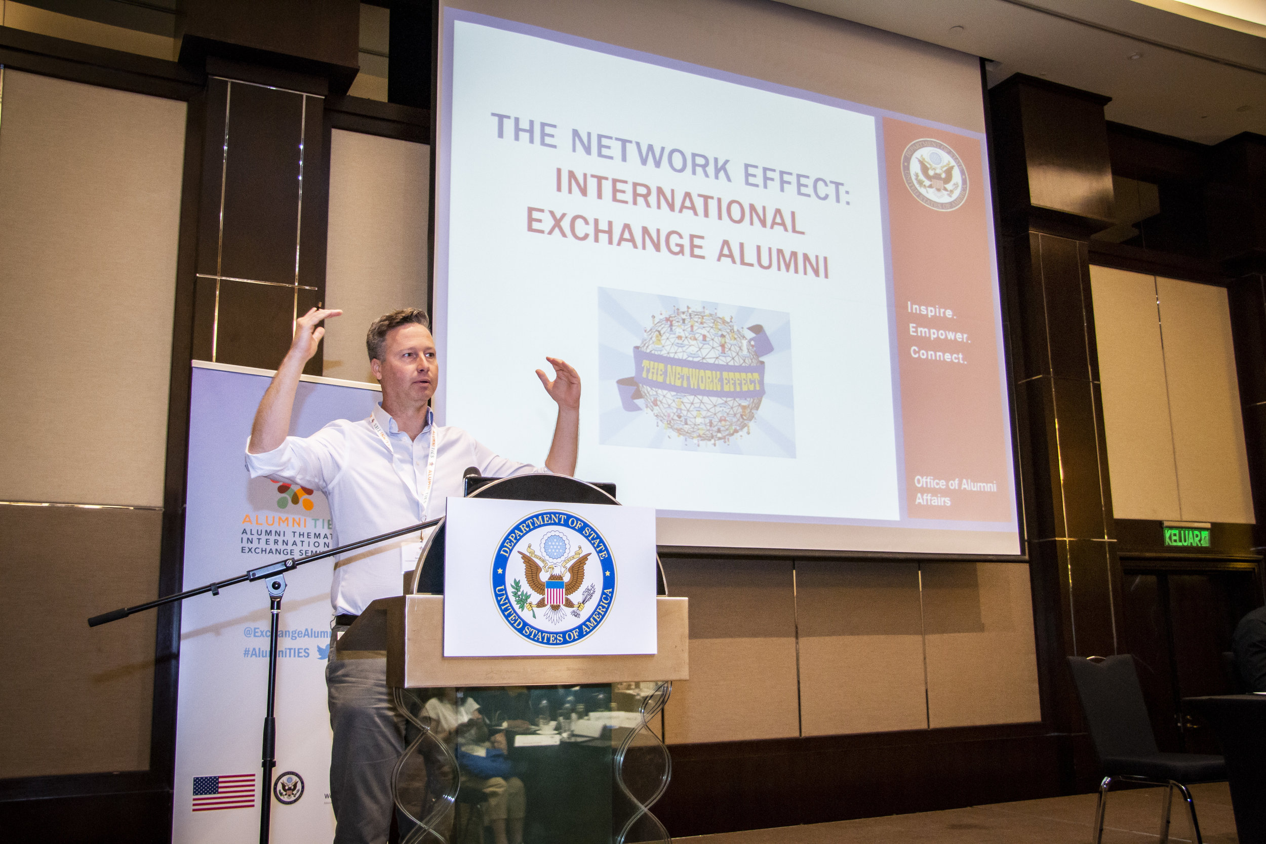 Alumni Ties   A briefing event to the alumni that joined the exchange program from all over the globe