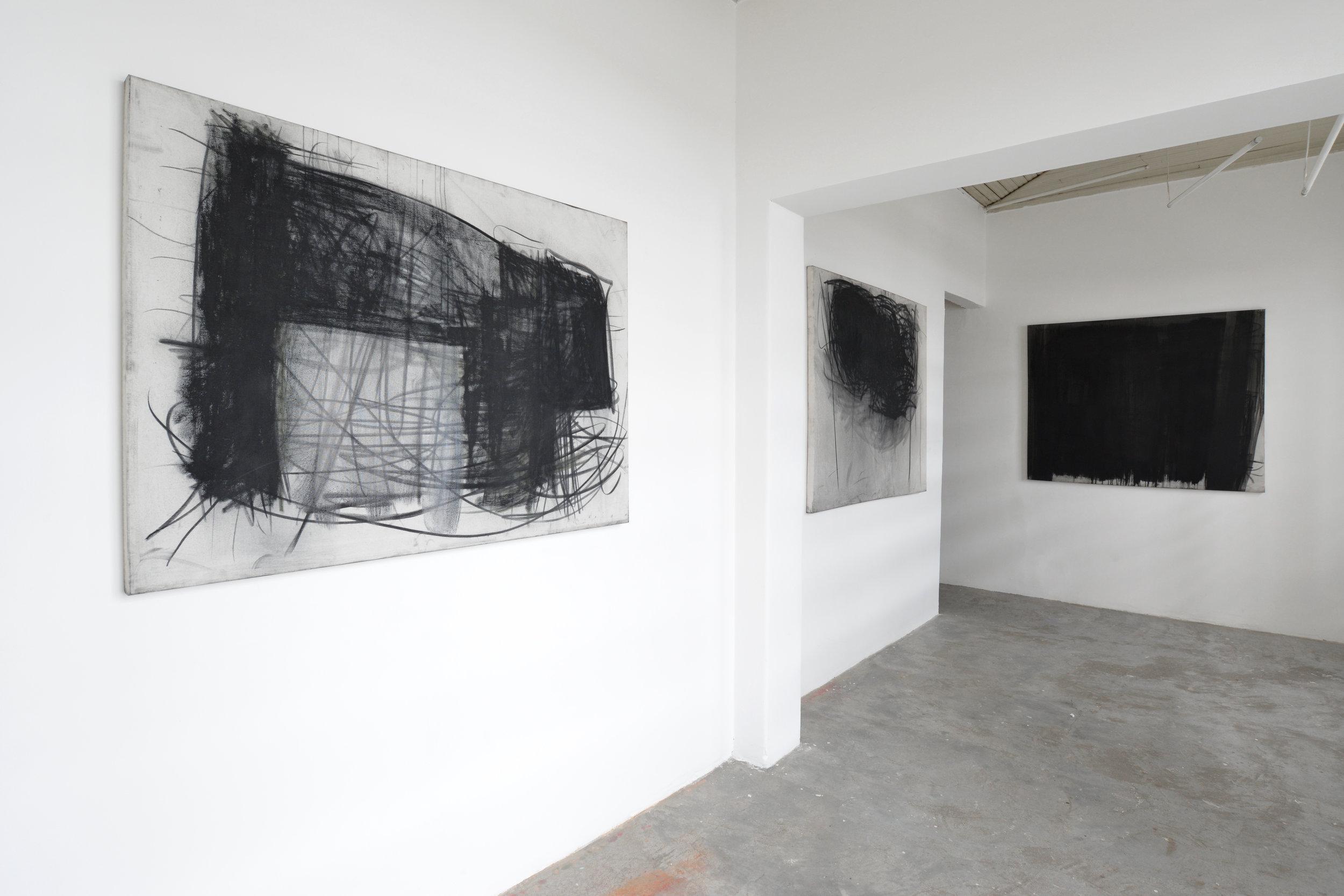 Inna Cymlich (charcoal on canvas)