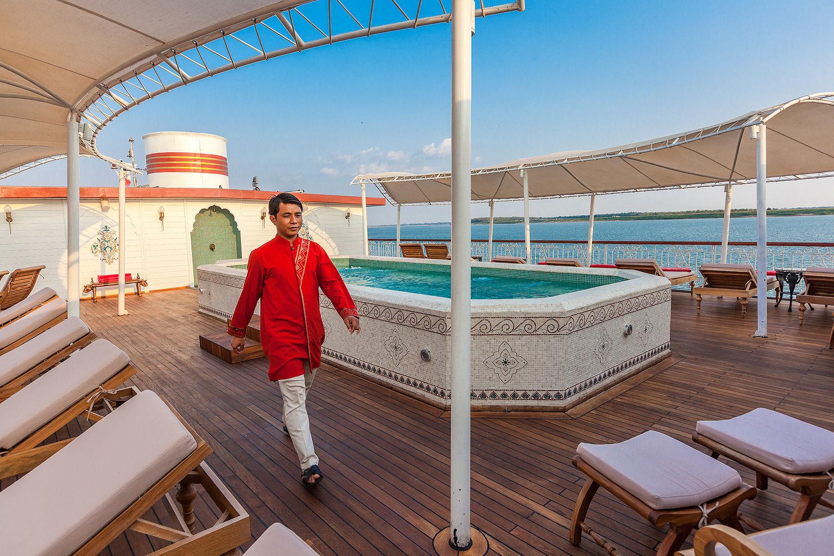 Pool and sun deck