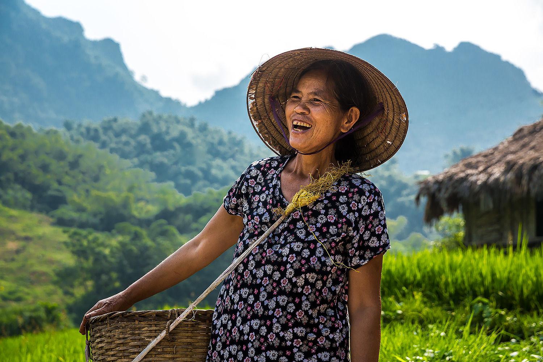 Hmong Farmer Hoa Binh Vietnam