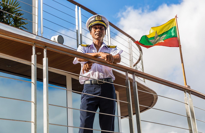 Boat Captain Irrawaddy Myanmar