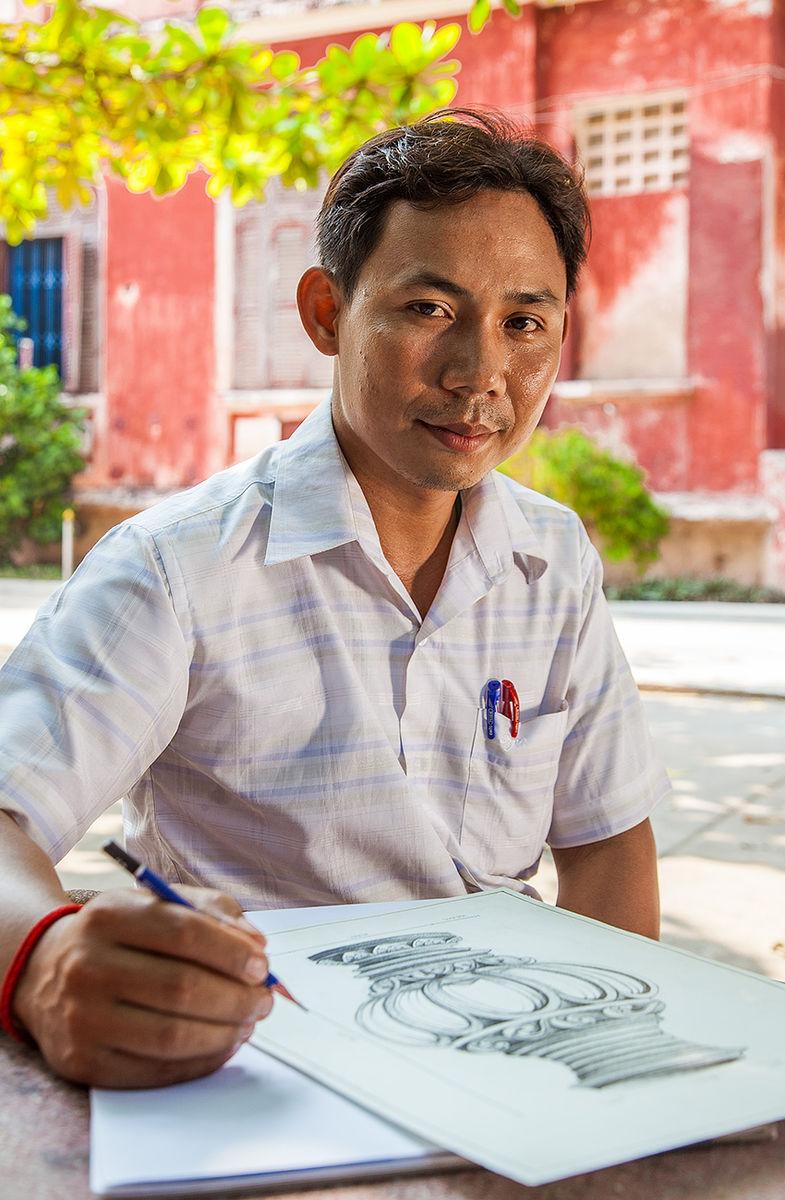 Art teacher Phnom Penh Cambodia