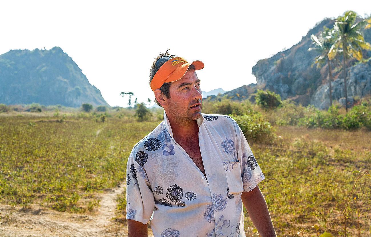 Jezza in the Kampong Trach Cambodia