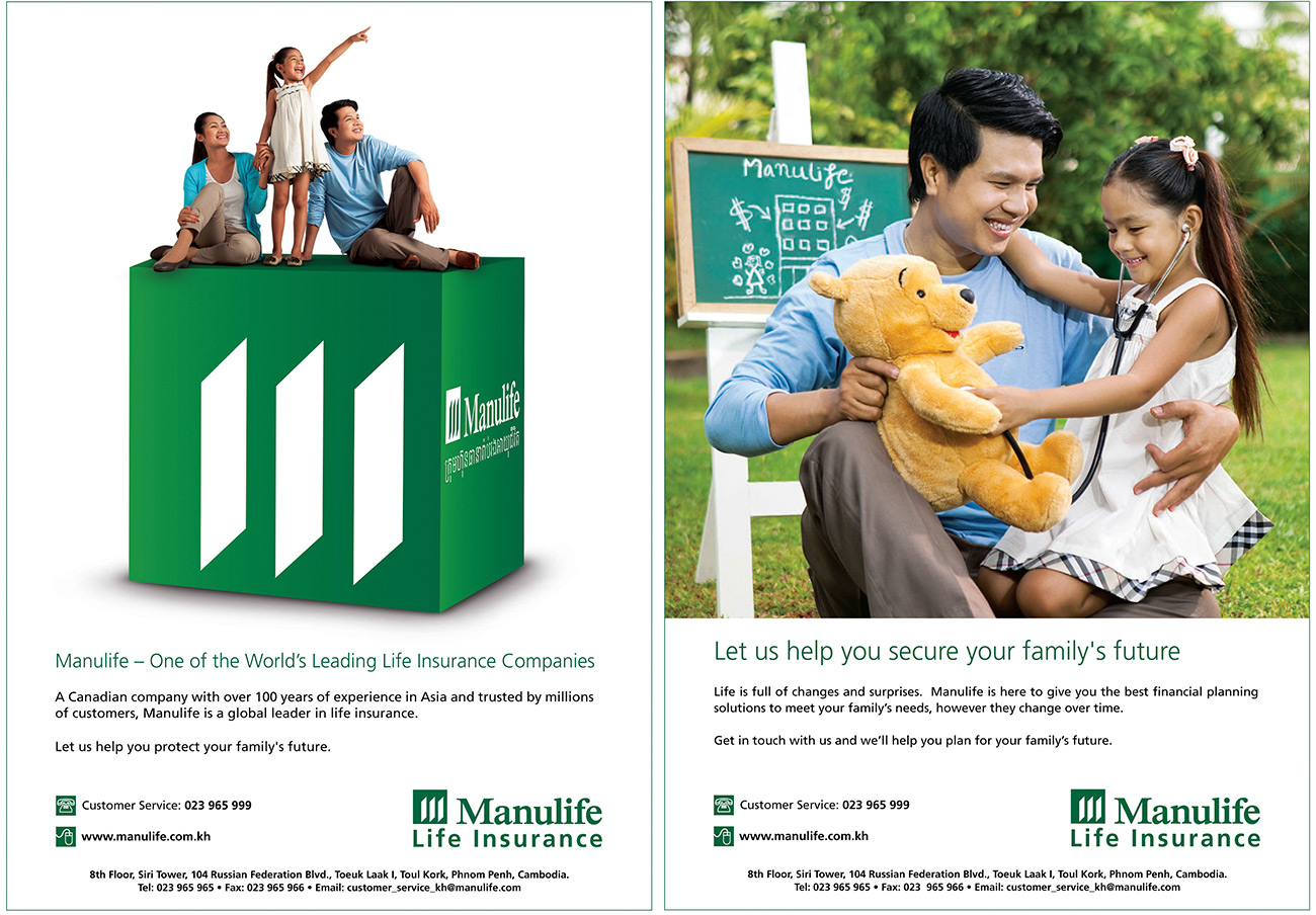 Manulife Insurance print ads
