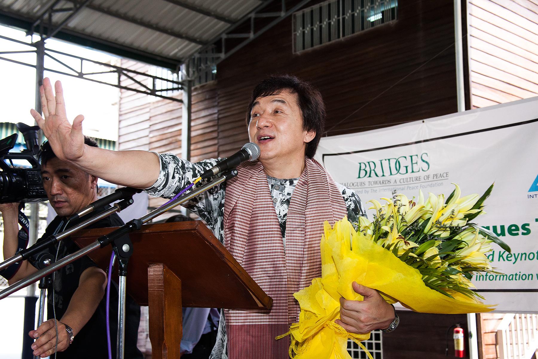 Jackie Chan, ISPP School, Phnom Penh, Bridges Int. Peace Foundation
