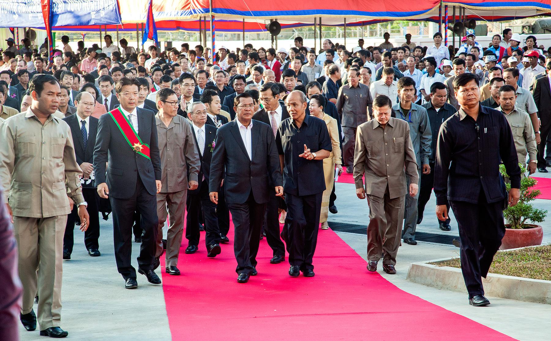 Cambodia Prime Minister Hun Sen Minibea Factory Opening Phnom Penh