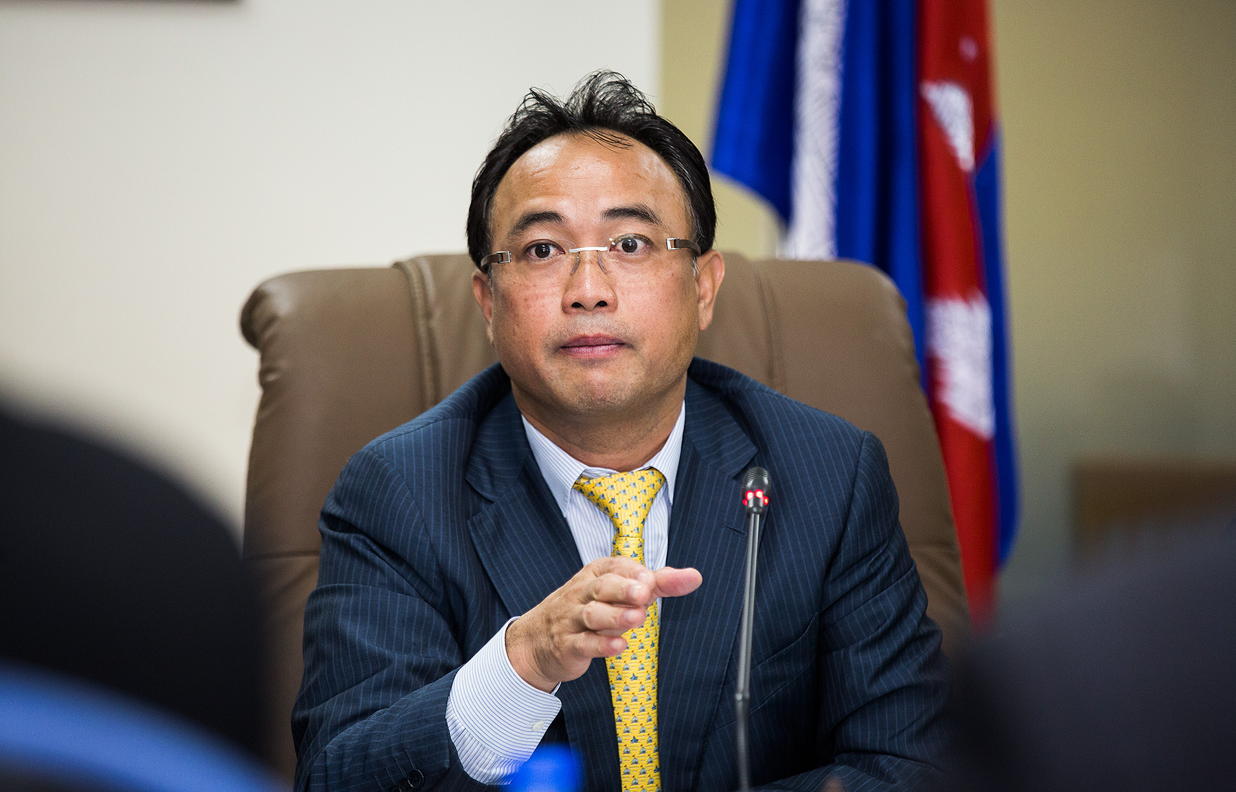 Tycoon Kith Meng, Chamber of Commerce HKTDC Meeting Phnom Penh
