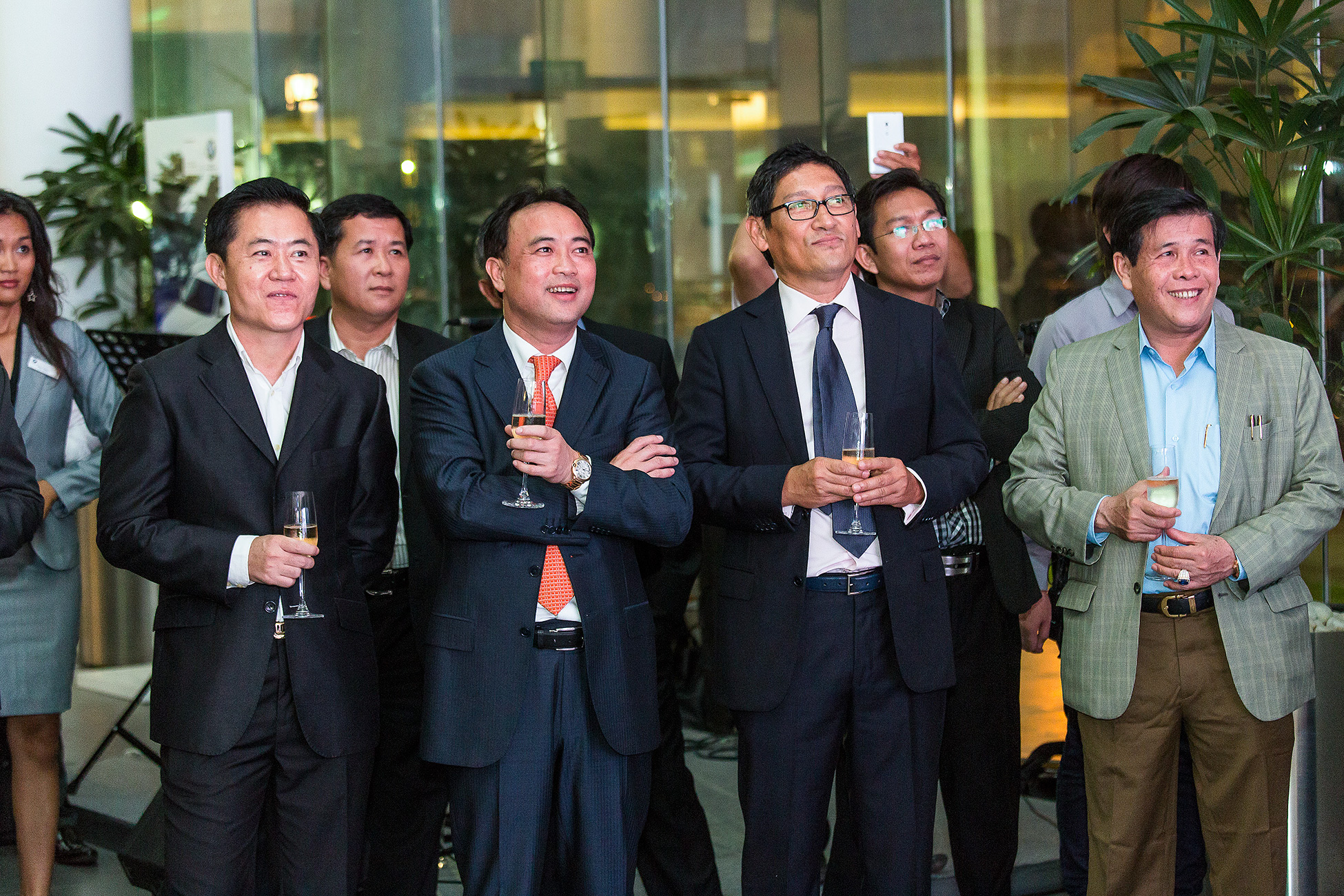 Tycoon Kith Meng, BMW Showroom Launch Phnom Penh
