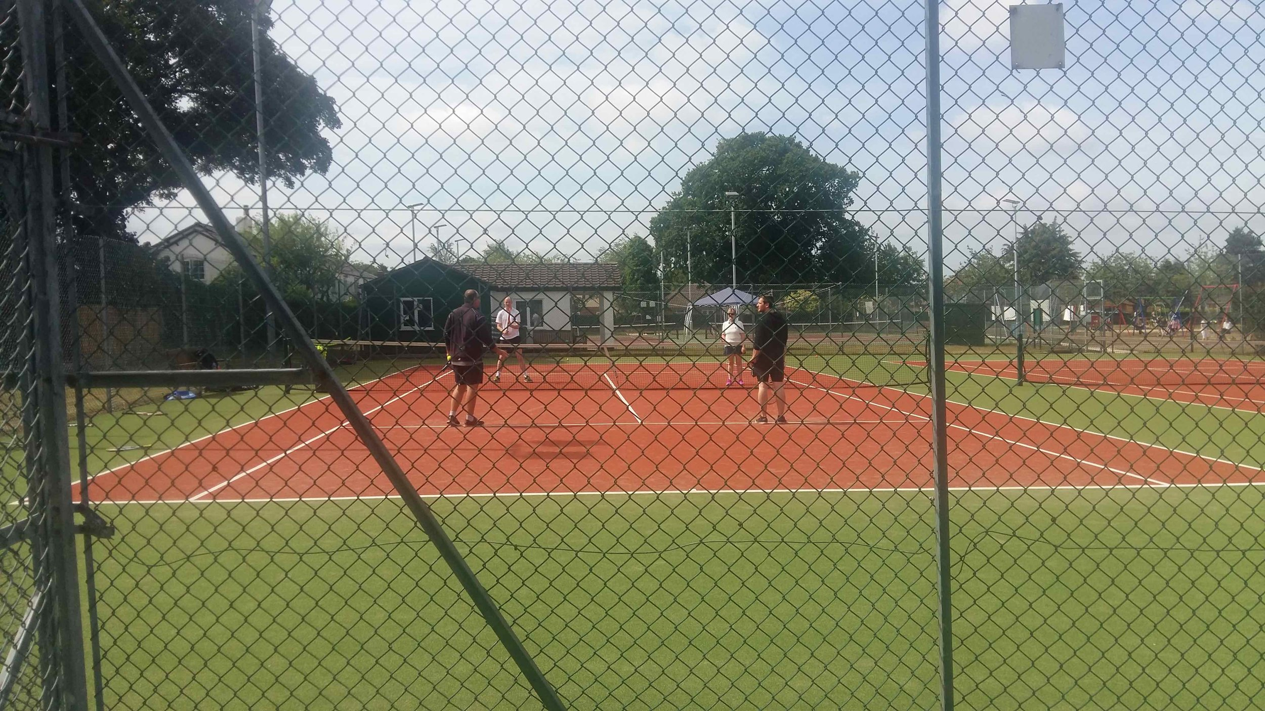 Players on the court at the club