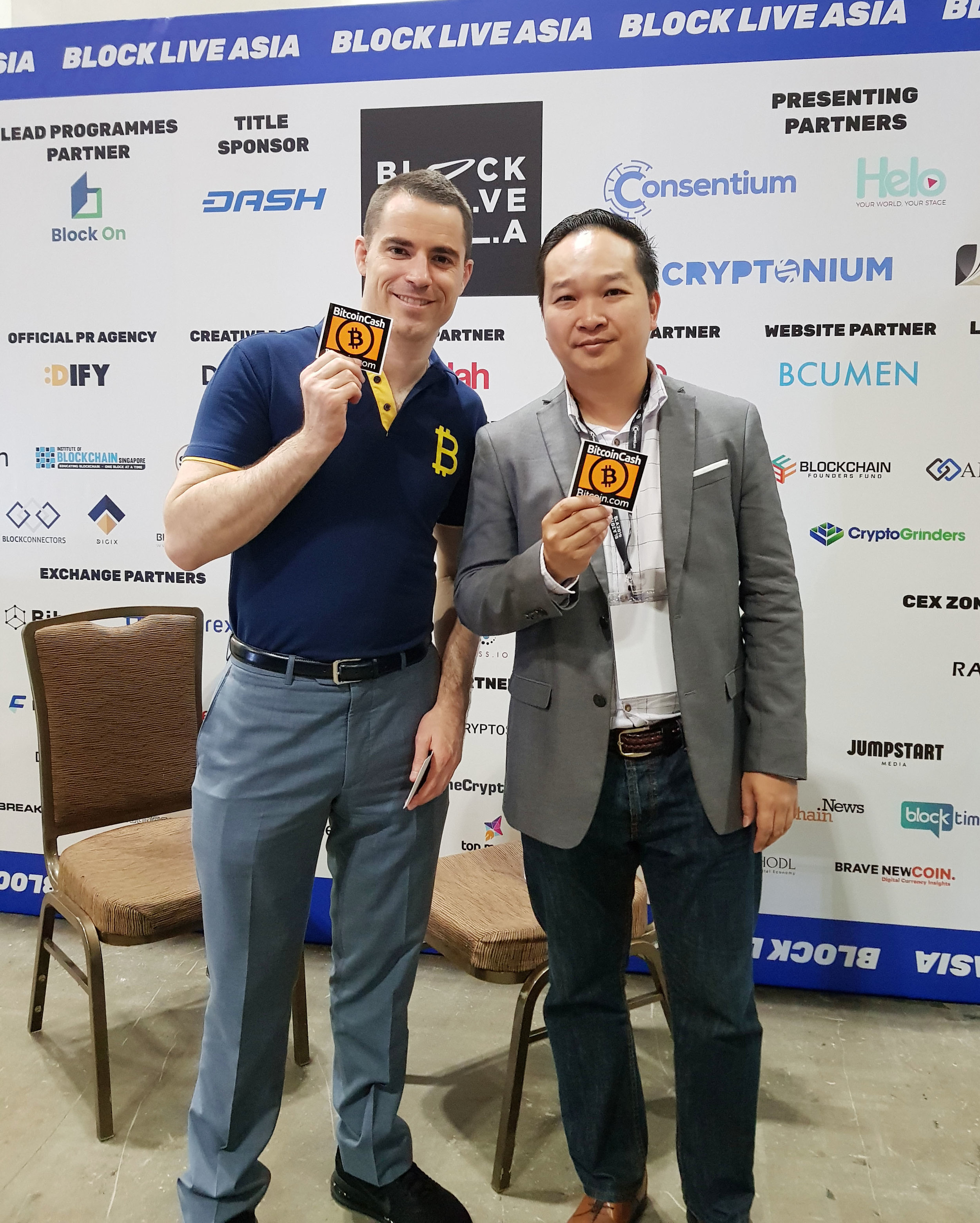 With Roger Ver at Block Live Asia 2019