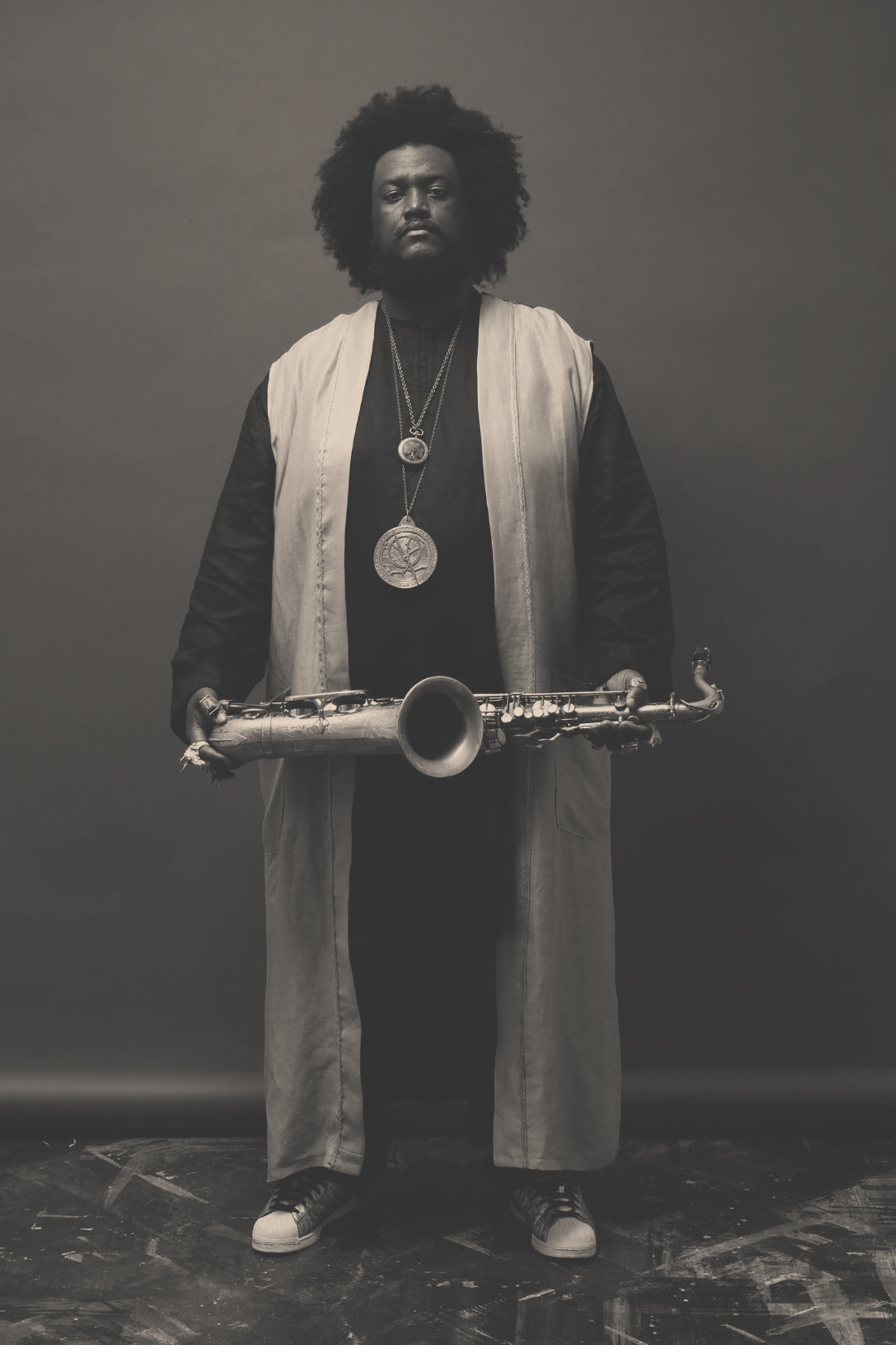 """Kamasi Washington - A critically acclaimed artist, Kamasi Washington debut album, The Epic, won numerous """"best of"""" awards, including the inaugural American Music Prize and the Gilles Peterson Worldwide album of the year.Collective Minds brought the seminal figure to Singapore and Bali."""