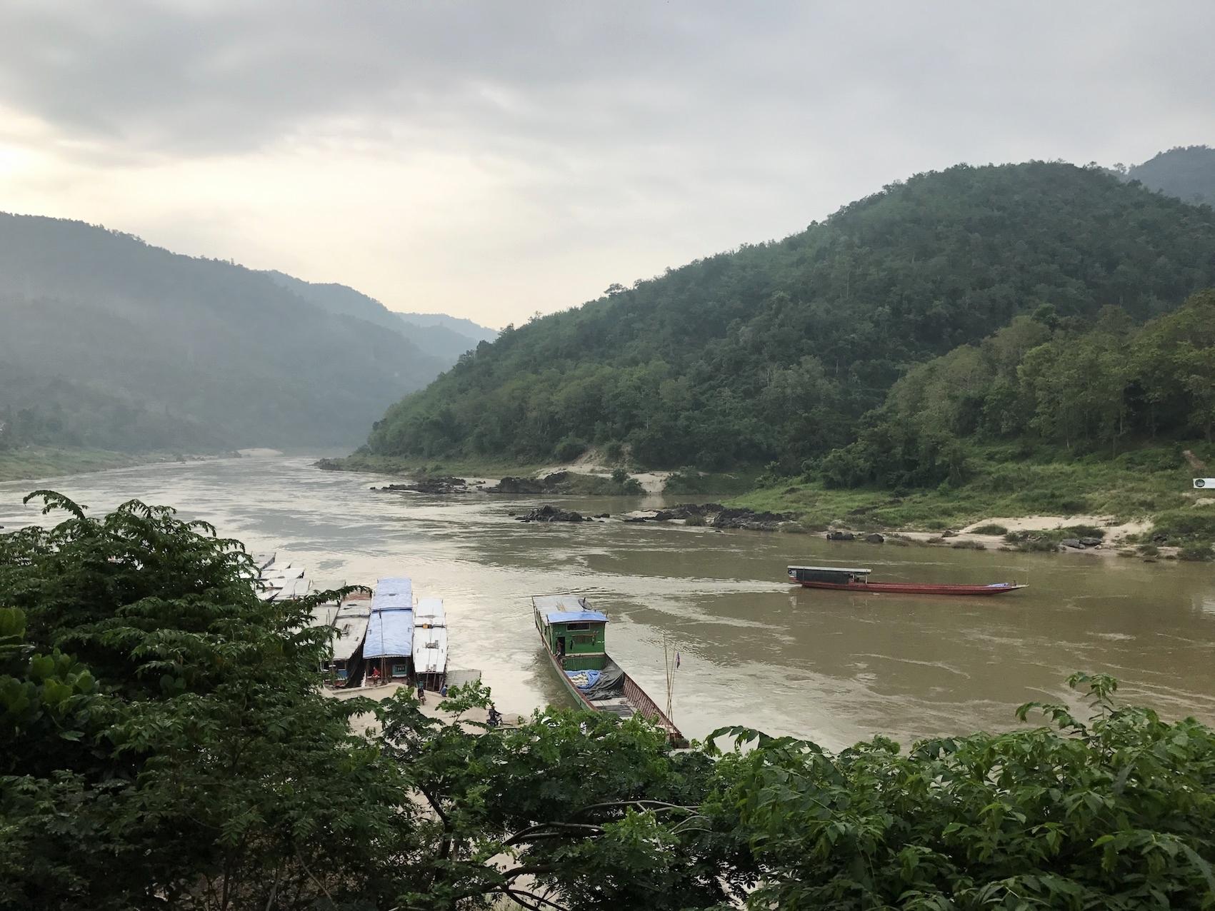 House Boats On The Mekong