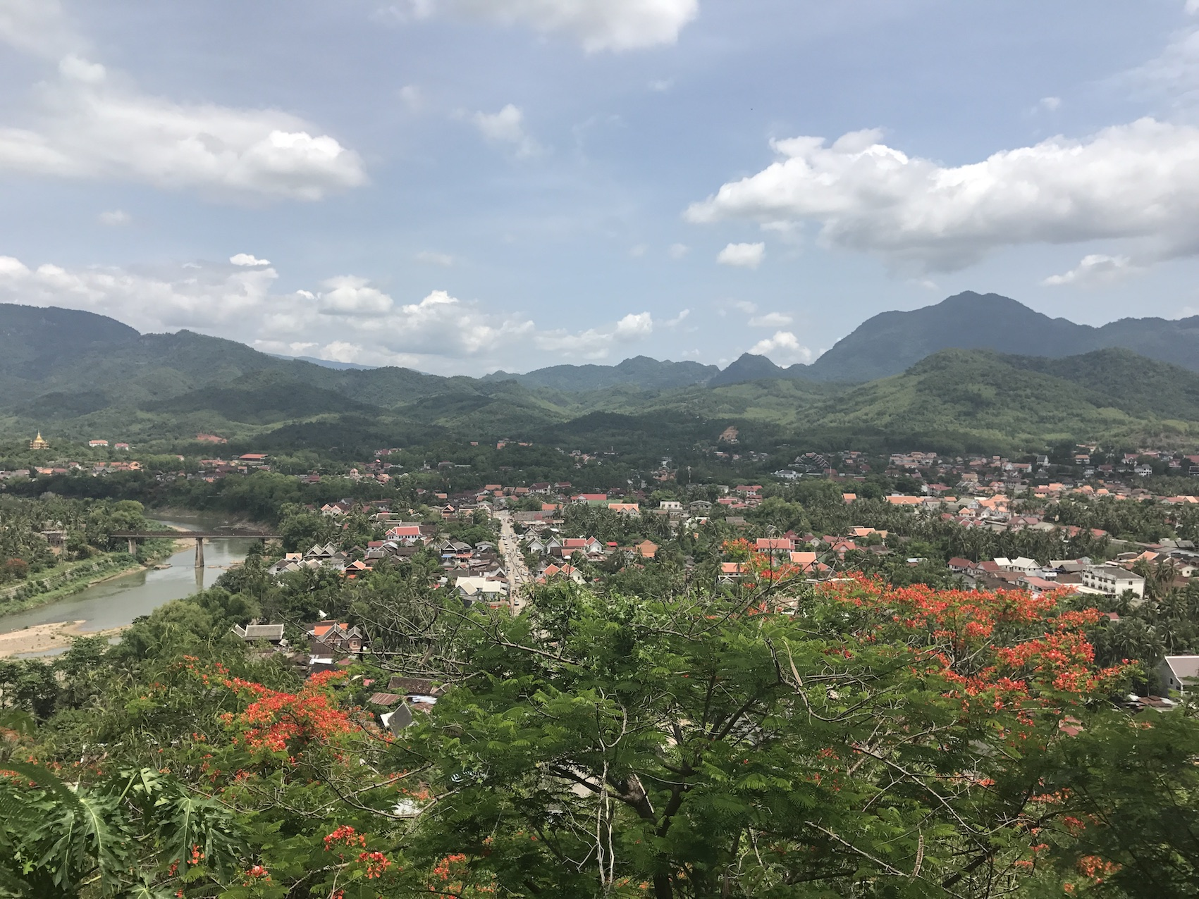 View From The Hill In Luang Prabang