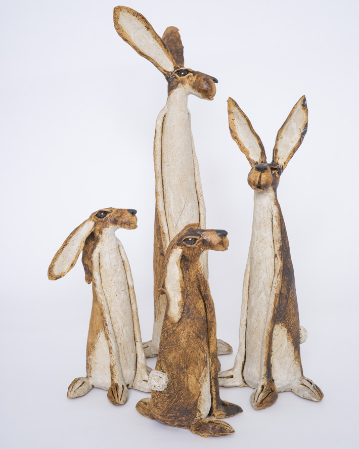 Hare family of four